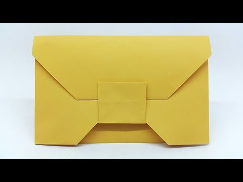 How to make Paper Envelope without Glue or Tape - Make your own Origami Envelopes