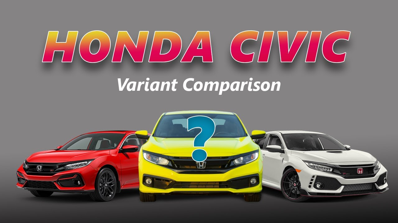 Which 2020 Honda Civic should you buy (Variant Comparison)