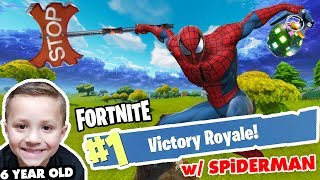 Download #1 FORTNITE DUO!! SPIDERMAN & 6 YEAR OLD CHASE VICTORY ROYALE!! (Battle Royale Duos 0 Kills Win) Video