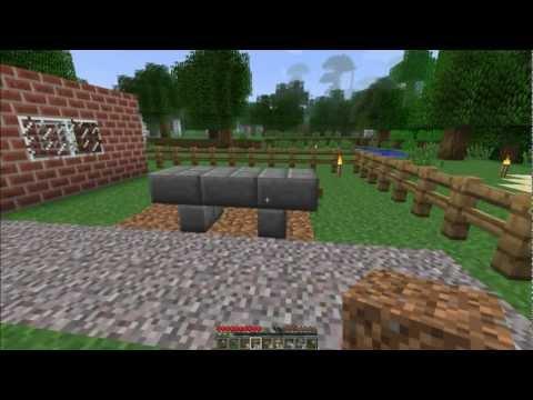 How to make a Bench in Minecraft! [Minecraft Furniture Episode 14]