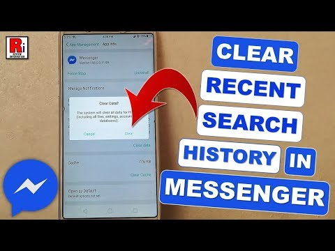 HOW TO CLEAR RECENT SEARCH HISTORY IN MESSENGER