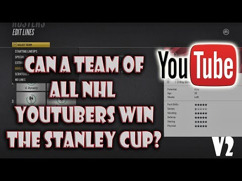 Can A Team of ALL NHL YouTubers Win the Stanley CUP? NHL 18 EP 2