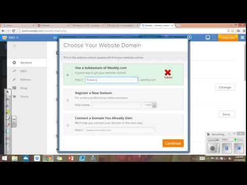 How to change you domain name on weebly