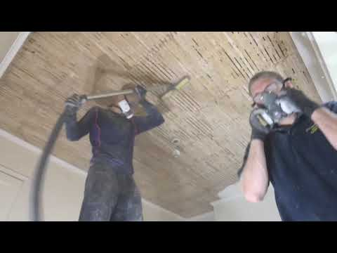 Remove and replace a lath and plaster ceiling