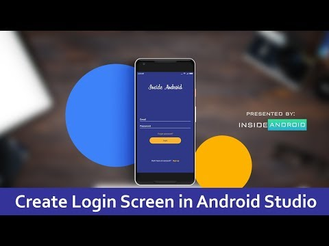 Create beautiful Login Screen in Android App   Android Studio