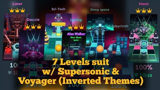 Rolling Sky Neon, Dazzle, Laser, Ignite, E-Labyrinth, Deep Space \u0026 Sci-Tech | Inverted Themes
