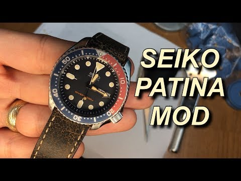 Seiko Patina Mod Using Coffee