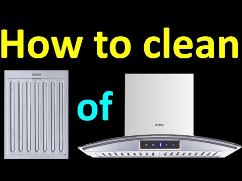 How to clean Electric Kitchen chimney baffle filters yourself