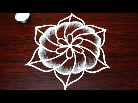how to draw simple 5x3 dots rangoli designs - beautiful kolam designs - easy muggulu rangoli