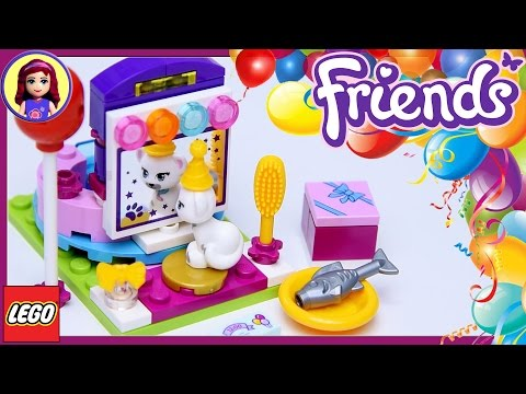Lego Friends Party Styling with Millie - Jewel the Cat Build Review Silly Play - Kids Toys