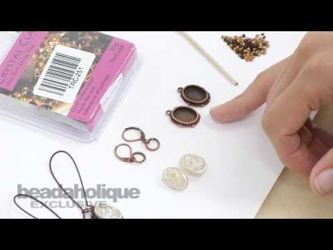 How to Make a Pair of Earrings with a Vintage Button (with glass shank) by Becky Nunn