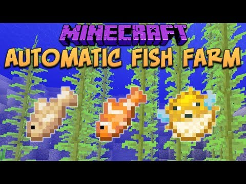 Minecraft 1.13 Building An Automated Fish Farm!