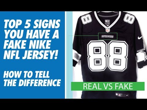 TOP 5 SIGNS YOU HAVE A FAKE NIKE NFL JERSEY! (HOW TO TELL)