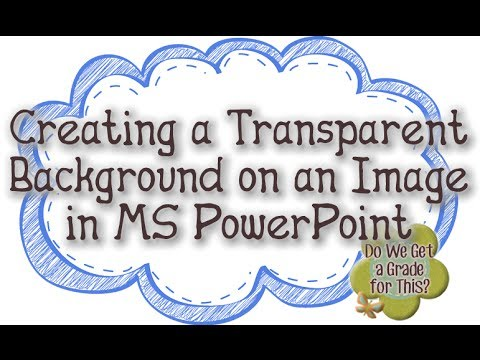Creating a Transparent Background on an Image in MS PowerPoint