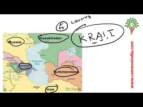 Prelims 2018 Revision videos - Geography - Map reading - Caspian sea