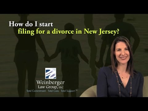 FAQ How do I start filing for a divorce in New Jersey?