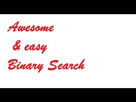 Binary Search in 5 min simple java program