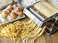 How to make Fresh Egg Pasta - Home made spinach pasta - HD