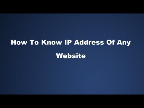 How To Know IP Address Of Any Website