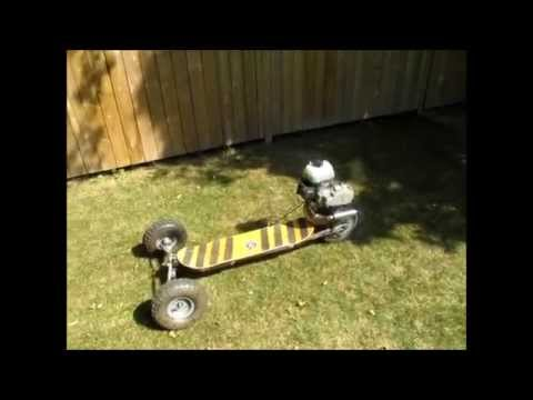 Moto-Board Home built motorized skateboard, scary but awesome!