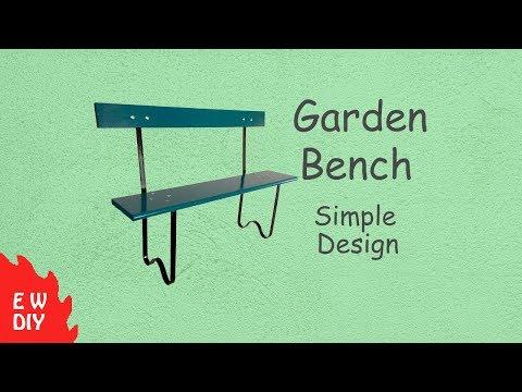 Garden Bench --Simple design--DIY video--