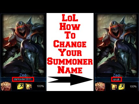 LoL - How To Change Your Name!?!?