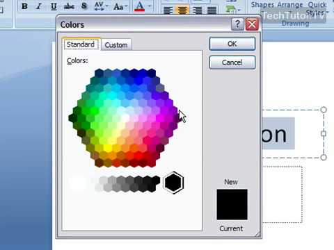 Change the Text Color in PowerPoint 2007