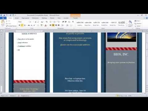 How to Make a Brochure in Microsoft Word