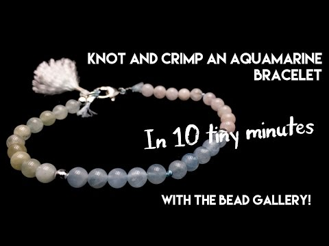 Teeny Aquamarine Bracelet in Minutes at The Bead Gallery