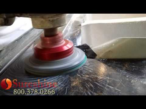 How to Polish Granite - DIY Wet to Dry with your resin diamonds