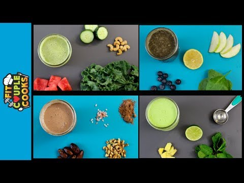 4 HEALTHY, QUICK & EASY SMOOTHIES