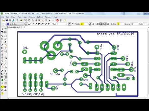 pcb layout design and printing eagle (simple)
