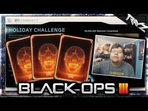 XMAS SUPPLY DROP OPENING! Redeem Your 5 Free Supply Drops In BO3! (Black Ops 3 Holiday Challenge)