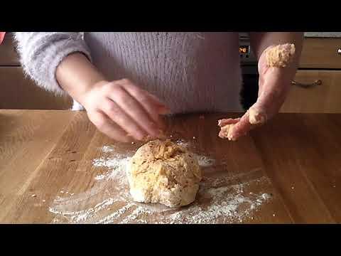 Vegan oil free yeast free sweetpotato flatbread roti 2 ingredients