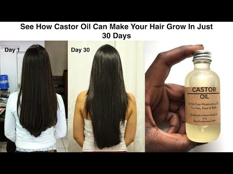 See How Castor Oil Can Make Your Hair Grow In Just 30 Days