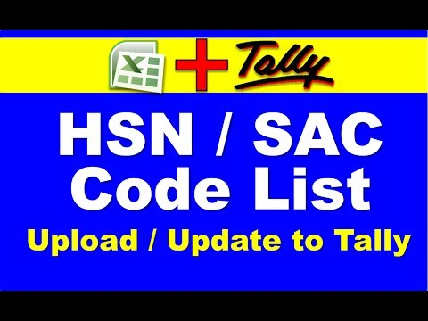 Excel to Tally ERP 9 GST Stock HSN / SAC Code list Import / Update 👈