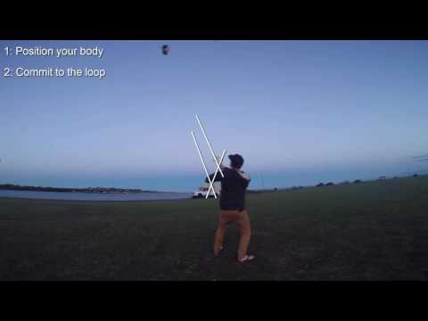 How to loop a  kitesurfing trainer kite: Trainer kite tutorials