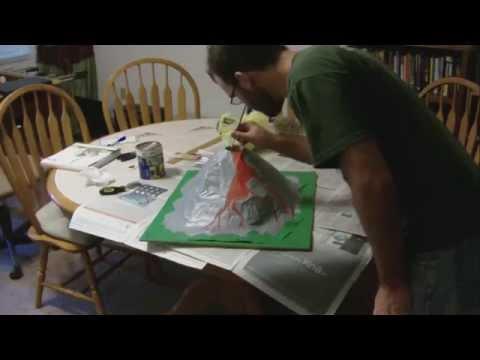 Paper Mache Volcano Project