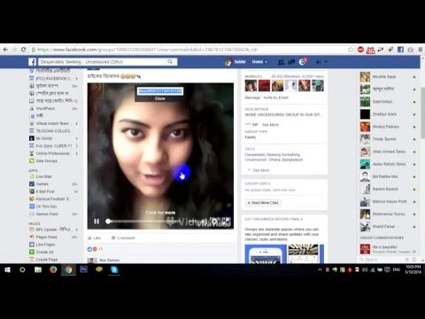How to download facebook closed/secret group video by PC/LAPTOP