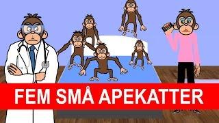 Fem små apekatter   Barnesanger på norsk