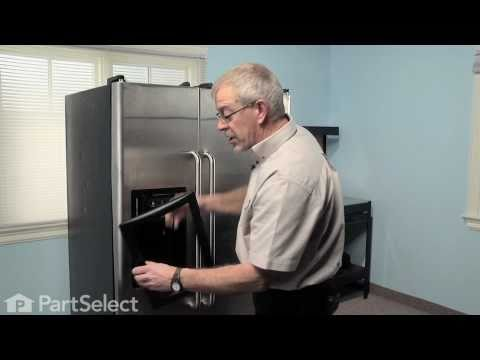 Refrigerator Repair- Replacing the Ice Dispenser Door Assembly (Flapper) (GE Part # WR17X11653)