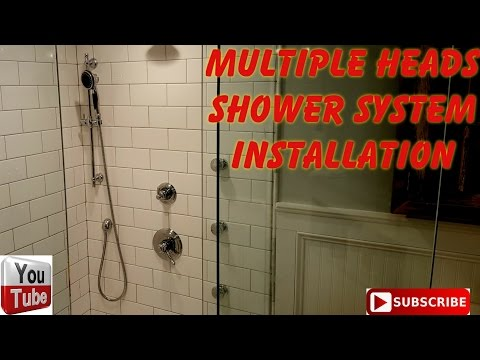 Multiple shower fixtures installation