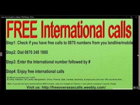 How to make free international calls from UK
