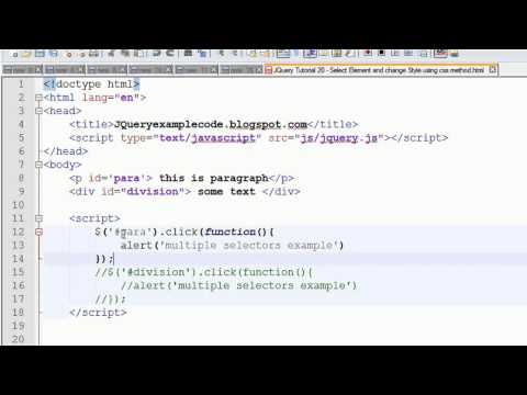 JQuery Tutorial 21 - Multiple selectors in jquery with Examples