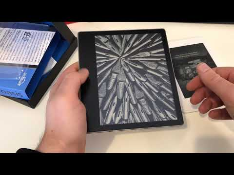 Amazon Kindle Oasis Gold Unboxing and Hands On | ENGLISH 4K