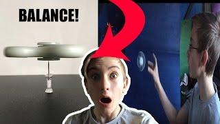 INSANE FIDGET SPINNER TRICKS!! | BALANCED ON A THUMBTACK