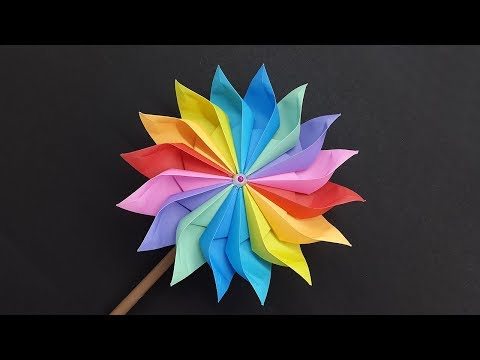 Wonderful Paper Windmill making tutorial - DIY Pinwheel