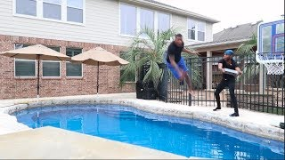 I THREW MY BROTHER'S XBOX AND $2000 GUCCI JACKET IN THE POOL!!!!