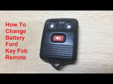 How To Change / Replace the Battery Ford 3 button key fob remote (2000 Ford Explorer)