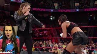 WWE Raw Shakeup 4/16/18 Ronda helps Natalya vs Absolution